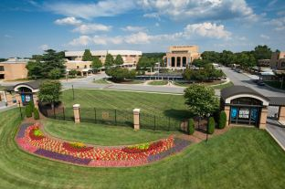 Front campus from a high angle 2014. Photo by Dan Calnon.